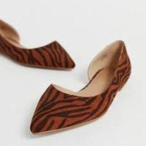 ASOS Tiger Stripe Wide Fit Ballet Flats NWT